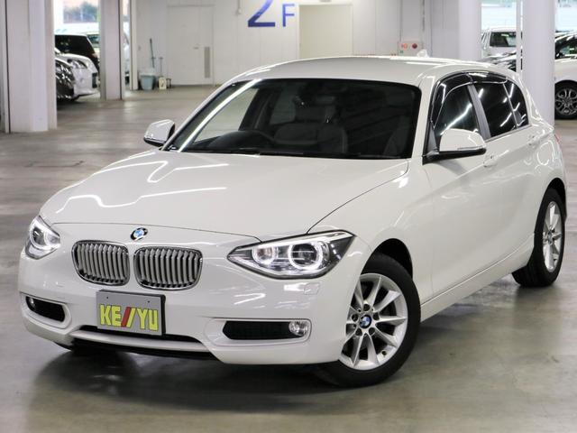 BMW 116i スタイル パーキングセンサー 純正HDDナビ フルセグTV Bluetooth ETC DVD バックカメラ ハーフレザーシート アイドリングストップ HIDオートライト ランフラット・純正16インチAW 禁煙
