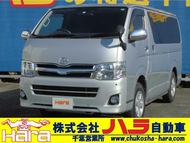 トヨタ ロングスーパーGL 4WD SDナビ テレビ Bluetooth バックカメラ AC100V電源 コーナーセンサー ドラレコ ETC HIDヘッドライト バックフォグ