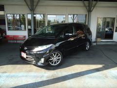 エスティマ専用HDDナビ後席モニタ−地デジ両側電動DサンR黒本革4WD