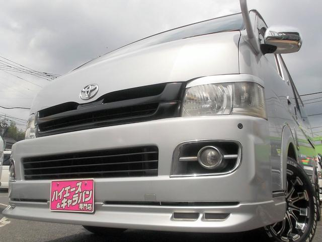 トヨタ ワイドスーパーGL3.0DT1オナナビ後席TVベット車内泊