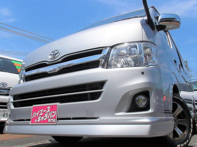 トヨタ ワイドスーパーGL3型ナビTV後席TVベット車内泊カスタム