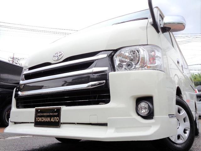 トヨタ ワイドスーパーGL4型1オナナビTVBカメエアロLED黒革調