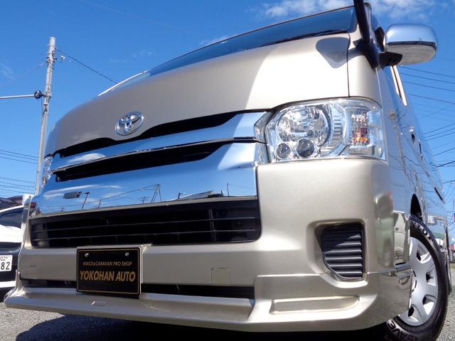 トヨタ グランドキャビン 4型6AT1オーナー禁煙 電動ドアエアロLEDナビTV後席モニターバックカメラビルトインETC
