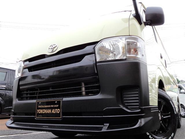 トヨタ ハイエースバン ロングDX 4型6AT法人1オーナーナビBカメラエアロ新品AWナスカー後席GLシート新規リアフィルム
