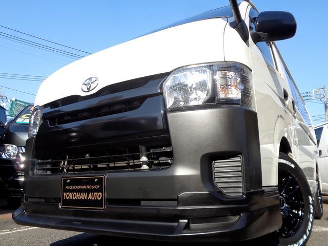 トヨタ ロングDX 4型6AT法人1オーナーナビTVバックカメラエアロBKインナーLED新品AW&ナスカー黒革調シート新規リアフィルム施工済