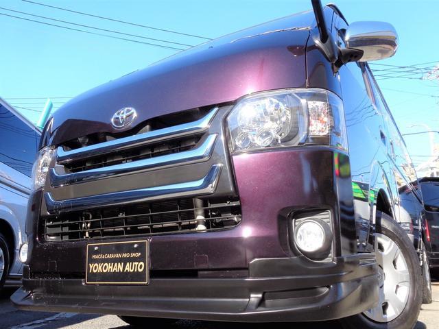 トヨタ ロングスーパーGL 4型3.0DT1オーナーSDフルセグバックカメラエアログリルLEDライトWエアB黒革調Tベル交換済