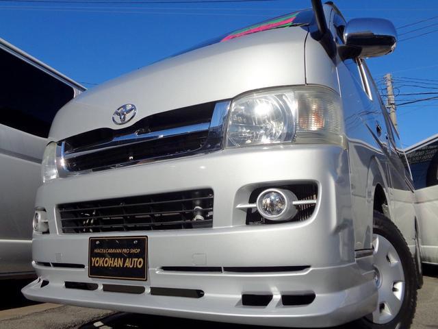 トヨタ ロングスーパーGL 2.5DT4WD1オーナーナビTVバックカメラETCセキュリティーAC100VエアロLEDライトリアシートベルト