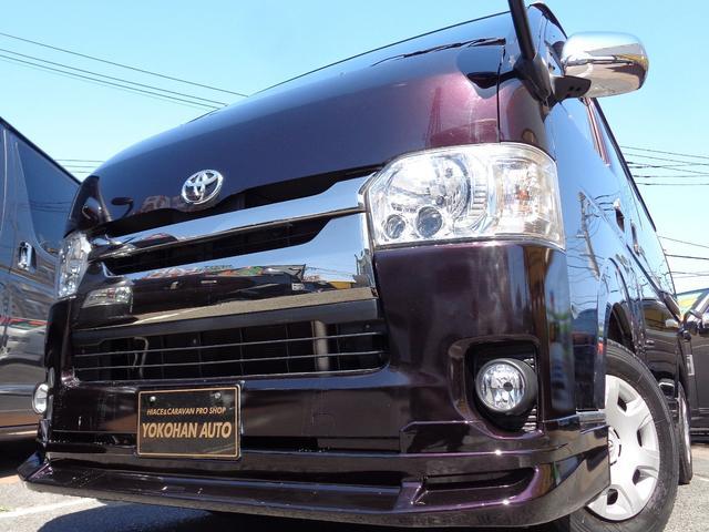 トヨタ スーパーGL ダークプライム 4型6ATSDフルセグバックカメラDレコーダースマートキーエアロLEDライト専用レザー&黒木目インテリアステアリングスイッチボードラック