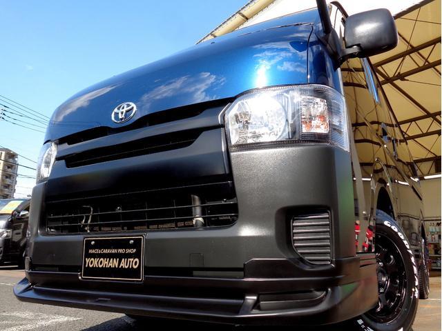 トヨタ ロングDX 4型6AT法人1オーナーナビTVバックカメラエアロBKインナーLEDライト新品15AW&ナスカー黒革調シート低床6人5ドア
