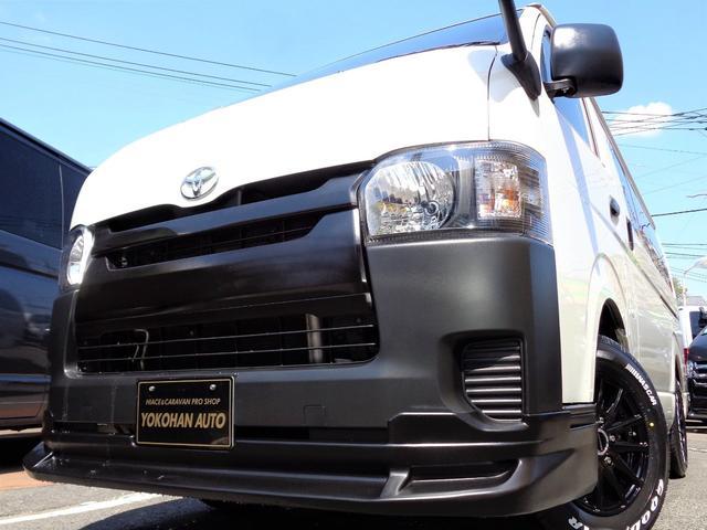 トヨタ ロングDX 4型6AT法人1オーナーナビTVバックカメラエアロBKインナーLEDライト新品15AW&ナスカー新規リアフィルム施工低床6人5ドア