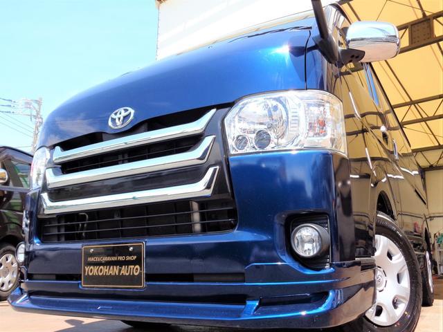 トヨタ ロングスーパーGL 4型3.0ディーゼルターボ1オーナーSDフルセグバックカメラ両側電動ドアスマートキーエアログリルLEDライト黒革調シートTベル交換済