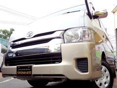 ハイエースワゴングランドキャビン 4WD4型6速ATレンタアップ法人1オーナー禁煙車ナビTVバックカメラETC電動スライドドア横滑り防止Wオートエアコン