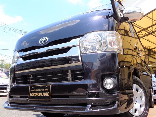 トヨタ スーパーGL ダークプライム 4型3.0ディーゼルターボ4WD1オーナーメモリーフルセグバックカメラスマートキーエアロLEDライト両側電動ドア専用レザー&黒木目インテリアTベル交換済