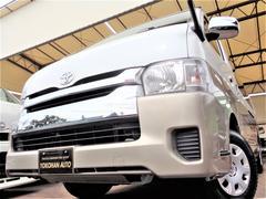 ハイエースワゴングランドキャビン 4WD寒冷地4型6速ATレンタアップ1オーナー禁煙ナビTVバックカメラETC自動ドア横滑り防止