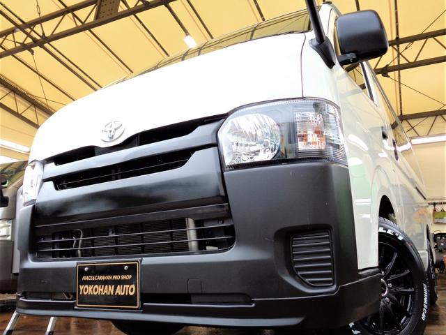 トヨタ ロングDX 4型6AT9人乗り1オーナーナビTVバックカメラエアロBKインナーLEDライト新品15AW&ナスカー黒革調シートリアフィルム
