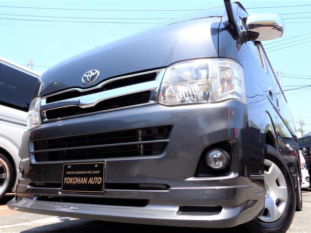 トヨタ レジアスエースバン ロングスーパーGL 3型1オーナーナビTVバックカメラエアロHIDライトWエアバックAC100V