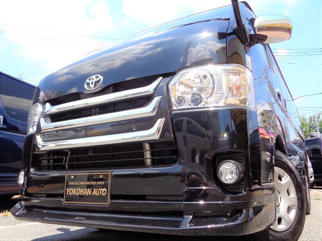 トヨタ ハイエースバン ロングスーパーGL 4型1オーナーSDフルセグTVバックカメラスマートキーエアログリルLEDライトスライド窓リアフィルムAC100V