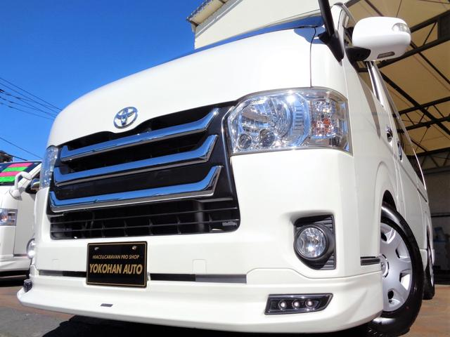 トヨタ ロングスーパーGL 4型1オーナー禁煙HDDフルセグBカメラスマートキーエアログリルLEDウインカーミラー黒革調Wエアバックリアフィルム