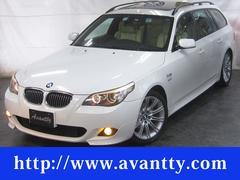 BMW525iツーリング Mスポーツ パノラマSR 1オナ 本革