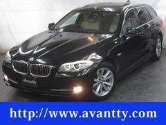 BMW523iツーリング ハイライン パノラマSRベージュ本革ナビ