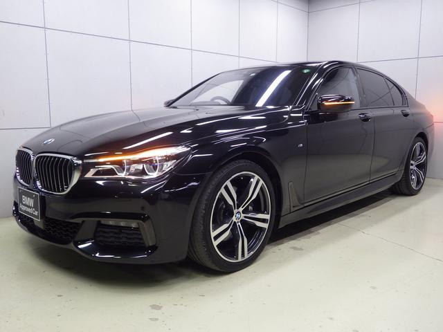 BMW 7シリーズ 740i Mスポーツ アクティブクルーズコントロール ヘッドアップディスプレイ ブラックレザーシート ガラスサンルーフ 正規認定中古車