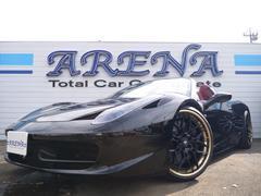 フェラーリ 458スパイダーカーボンレーシングシート LEDカーボンステアリング D車