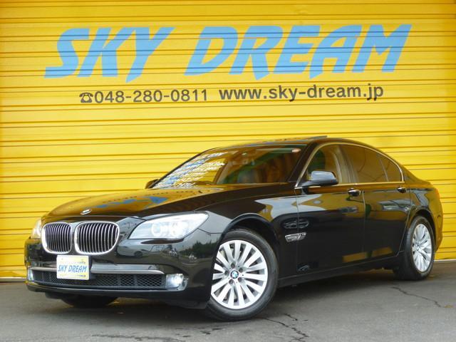 BMW 750i 黒革エアシート サンルーフ HDDナビ地デジ