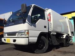 エルフトラック6立米モリタ製プレスパッカー車 5Lディーゼル 汚水タンク