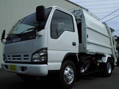 エルフトラック新明和製6.5立米プレスパッカー車連続スイッチ2.6t積