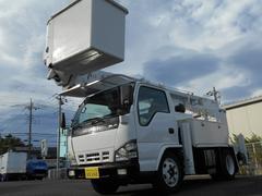 エルフトラックアイチ製サブエンジン型高所作業車 電工仕様上物載せ替え
