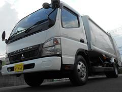 キャンター2.65t積プレス式パッカー車新明和製G−PX7.4立米