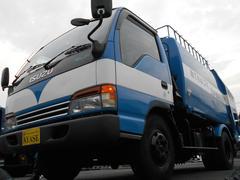 エルフトラック3t積プレス式パッカー車極東製5.8立米連続スイッチ付き