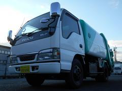 エルフトラック2t積巻込み式(回転式)パッカー車フジマイティー5立米