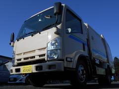 エルフトラックフジマイティ製5.1立米巻込み式パッカー車4.6LCNG