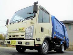 エルフトラック新明和製4.2立米プレス式パッカー車4.57LCNGエンジン