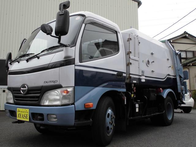 日野 2t積巻込み式4.3立米パッカー車AT