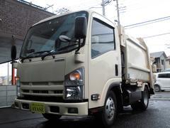 エルフトラック2t積回転板式パッカー車CNGスライド式排出4.7立米