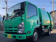 エルフトラック2t積プレス式パッカー車CNGスムーサーEX4.3立米極東