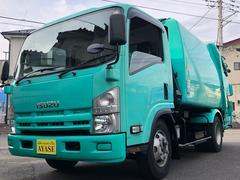エルフトラック2.7t積プレス式パッカー車極東製6.9立米スムーサーEX