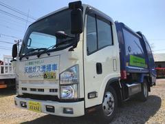エルフトラック2t積プレス式パッカー車4.57LCNG新明和4.2立米
