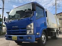 エルフトラック3.25t積プレス式パッカー車6.0立米連続・汚水タンク付き