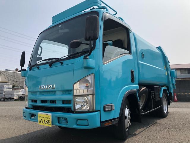 いすゞ エルフトラック 2t積巻込み式パッカー車5立米フジマイティー