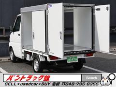 ミニキャブトラック左右扉付リア観音開きドア保冷パネルバンAT免許可1オーナー車