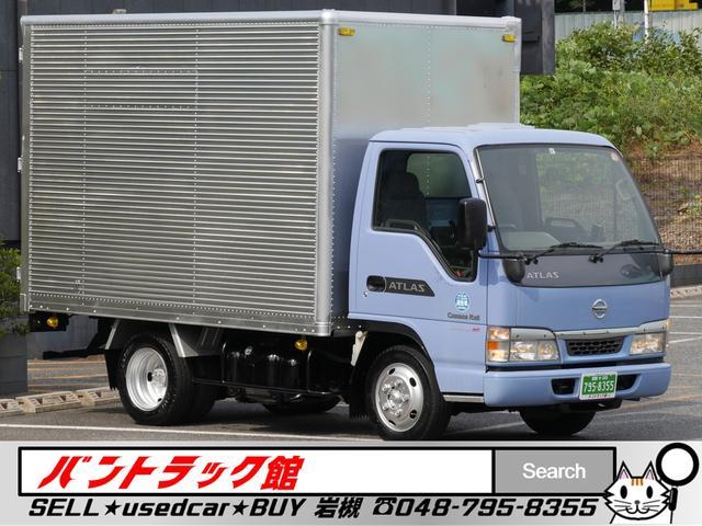 日産 2t10尺リア観音扉アルミバンNOxPM条例両適1オーナー車