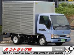 アトラストラック 2t10尺リア観音扉アルミバンNOxPM条例両適1オーナー車(日産)