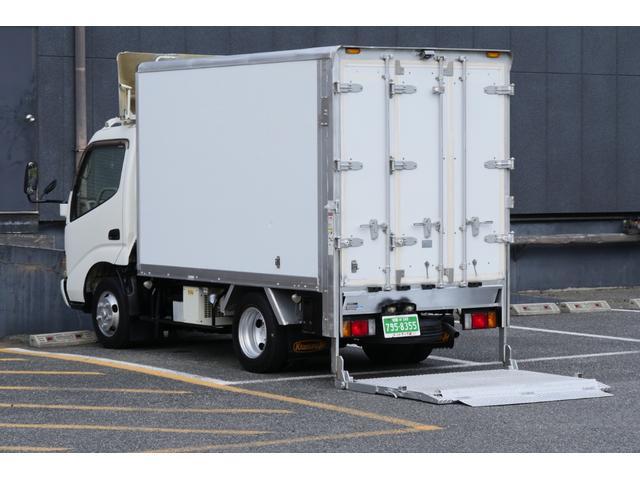 日野 ガソリン2t積-5℃冷凍冷蔵車バックカメラ垂直パワーゲート付