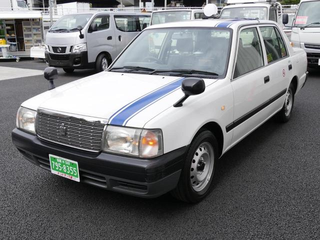 トヨタ タクシーメーター付 事業用上がり記録簿有ワンオーナーLPG車