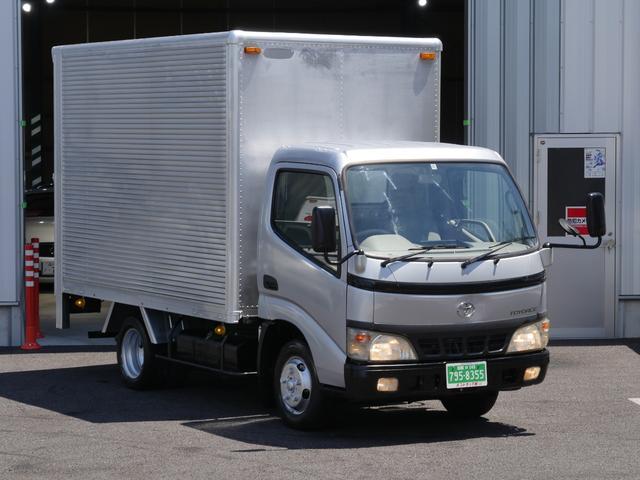 トヨタ ダイナトラック ジャストロー 積載量2t 準中型MT免許 2トンアルミバン ガソリン車NOXpm適合 10尺パネルバン 荷室高さ201cm幅179cm長さ311cm 全高286cm 床面地上高78cm低床アルミ ラッシングレール