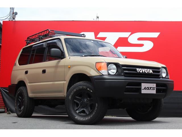 トヨタ ランドクルーザープラド TX 丸目ライト ナローボディ仕様 60エンブレム 4WD ナビ AW オーディオ付 ベージュ