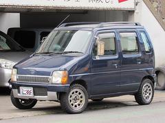 ワゴンRRG−4 4WD 5速MT リフトアップ約60mm(タイヤ径含む) デイトナメッキホイール オフロードタイヤ カリフォルニアミラー 純正メッキフロントグリル バンパーカット タイミングベルト交換済